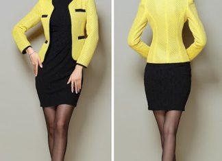 áo vest công sở màu vàng