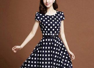 váy đầm công sở dáng xòe