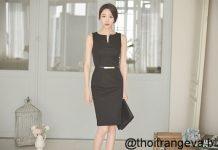 váy đầm công sở màu đen