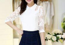 áo sơ mi nữ công sở tay lở