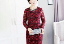 váy đầm dự tiệc tuổi 50
