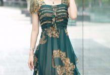 váy đầm dự tiệc tuổi trung niên