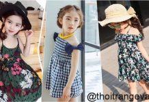 thời trang đi biển cho bé gái