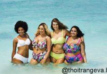 thời trang đi biển cho người béo mập