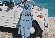 váy đầm mặc đi biển