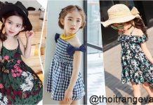váy đầm đi biển cho bé gái