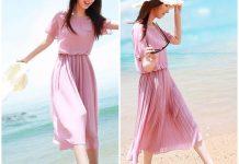 váy đàm đi biển cho người thấp