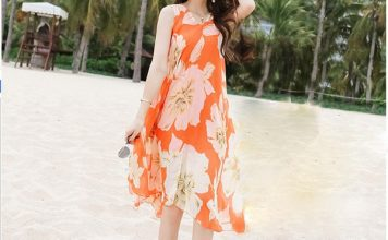 váy đầm maxi đi biển