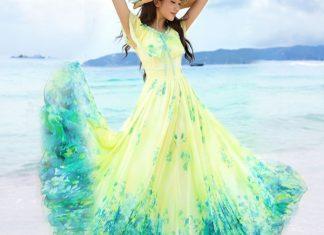 váy đầm maxi đi biển cho người gầy