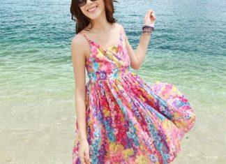 váy đầm ngắn đi biển