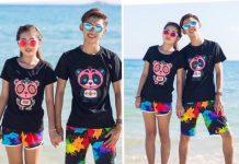quần couple đi biển